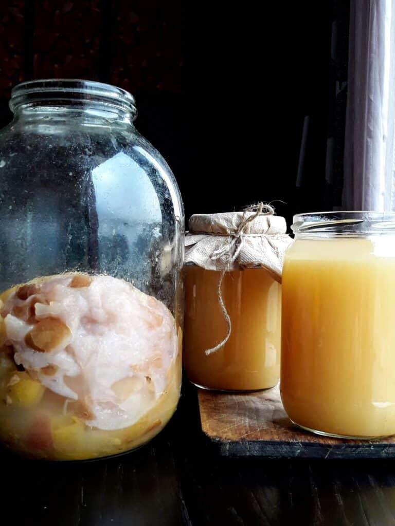 Ферментация на ябълков оцет